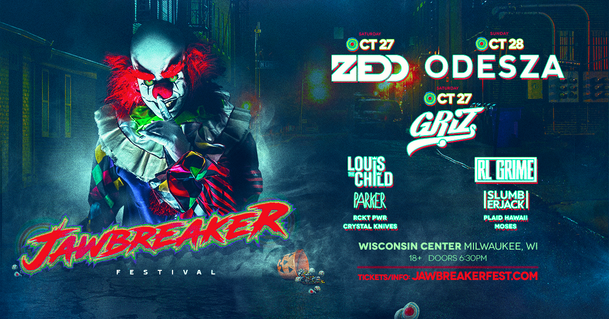 win tickets to jawbreaker halloween with zedd griz and more