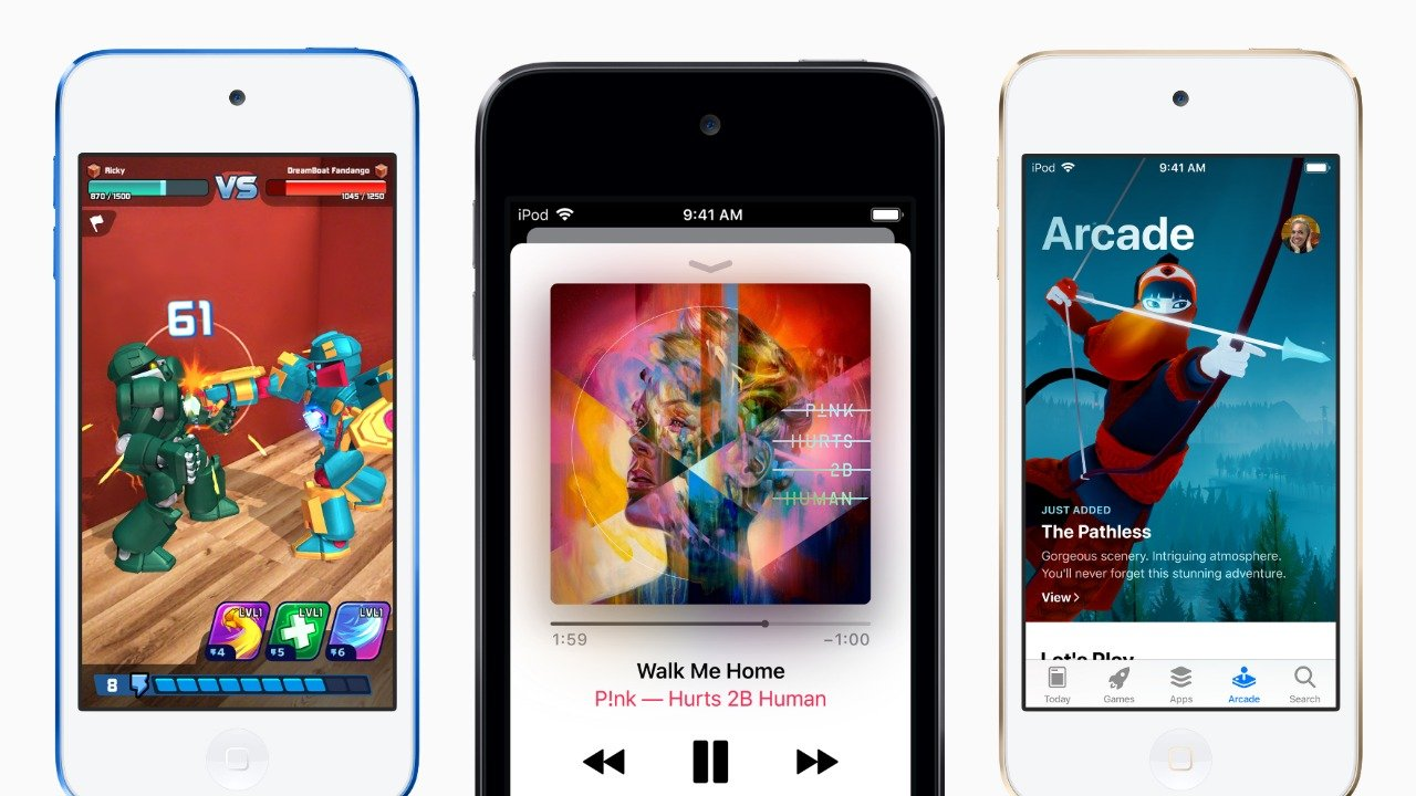 apple ipod touch arcade gaming streaming