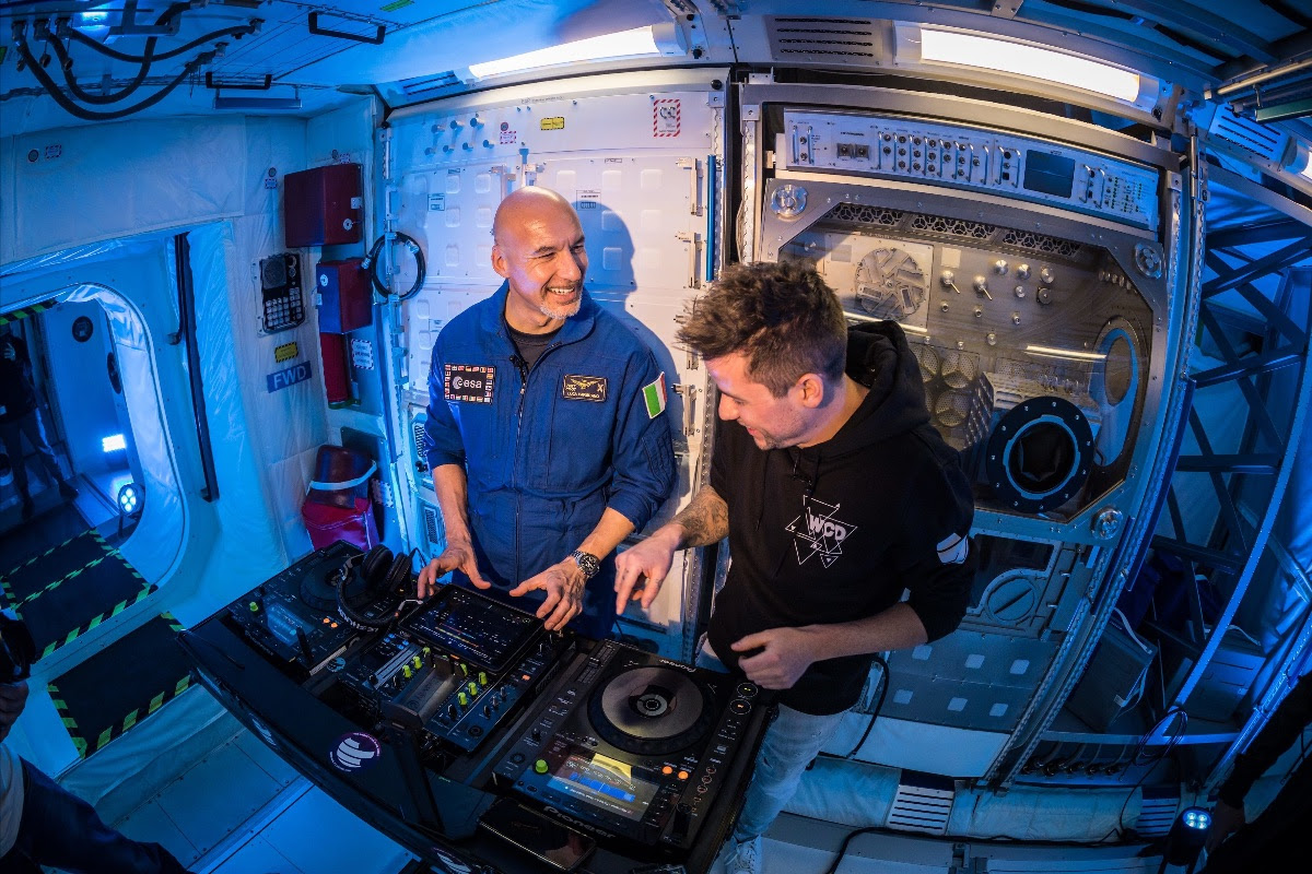 First DJ set in space