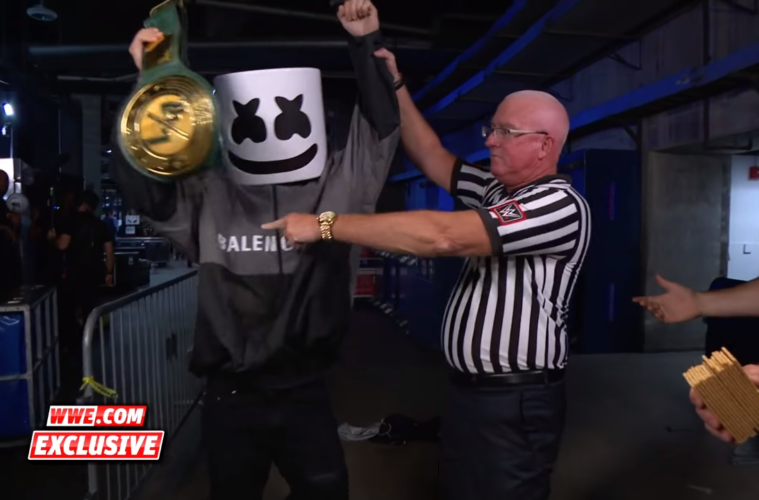 Marshmello Wins (And Loses) His First WWE Belt In This ABSURD Series Of Events