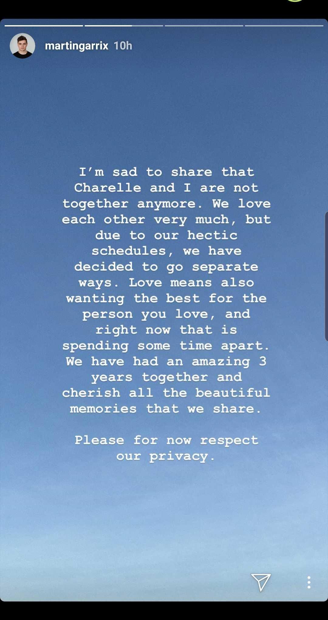 Martin Garrix Publicly Breaks Up with Super Model Girlfriend