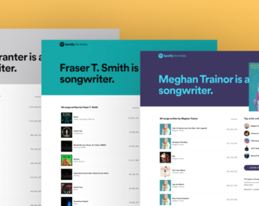 spotify songwriter pages