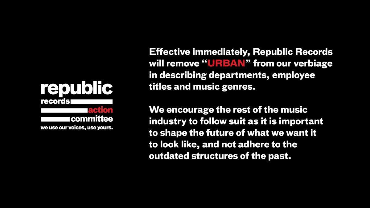 Republic Records, Milk & Honey Management Remove The Word