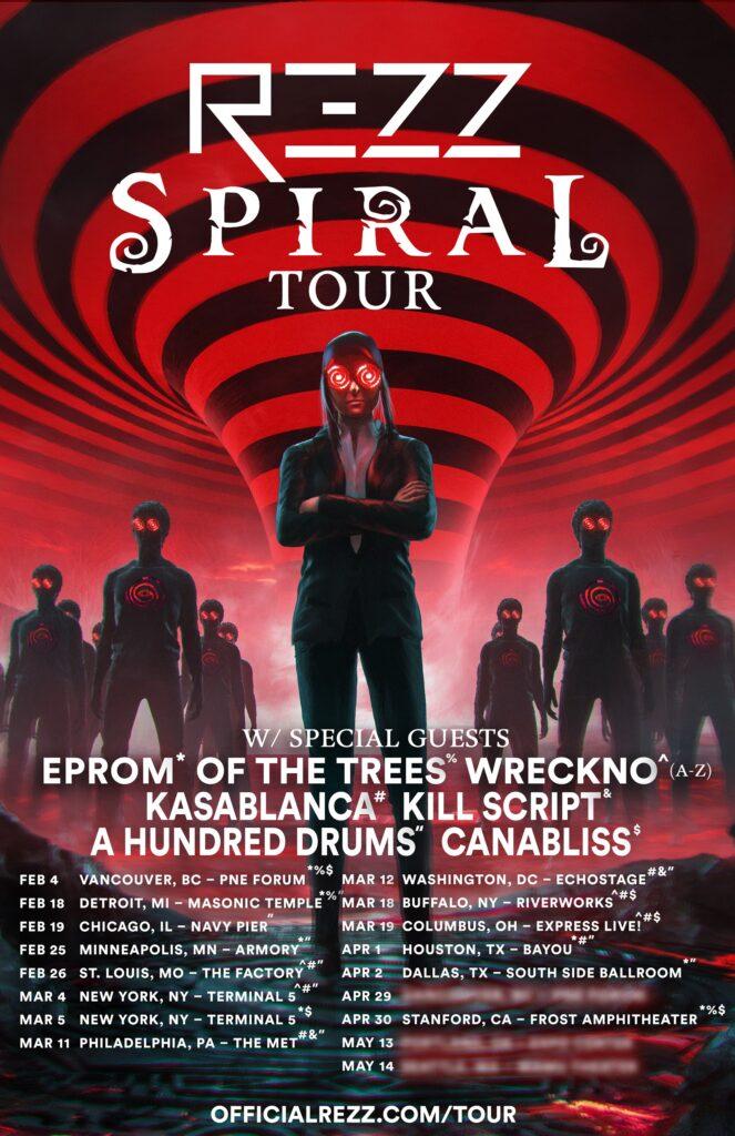 rezz spiral tour