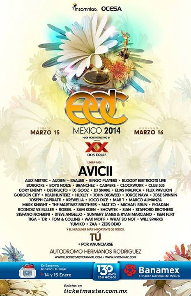 Electric Daisy Carnival Mexico Line Up Announced