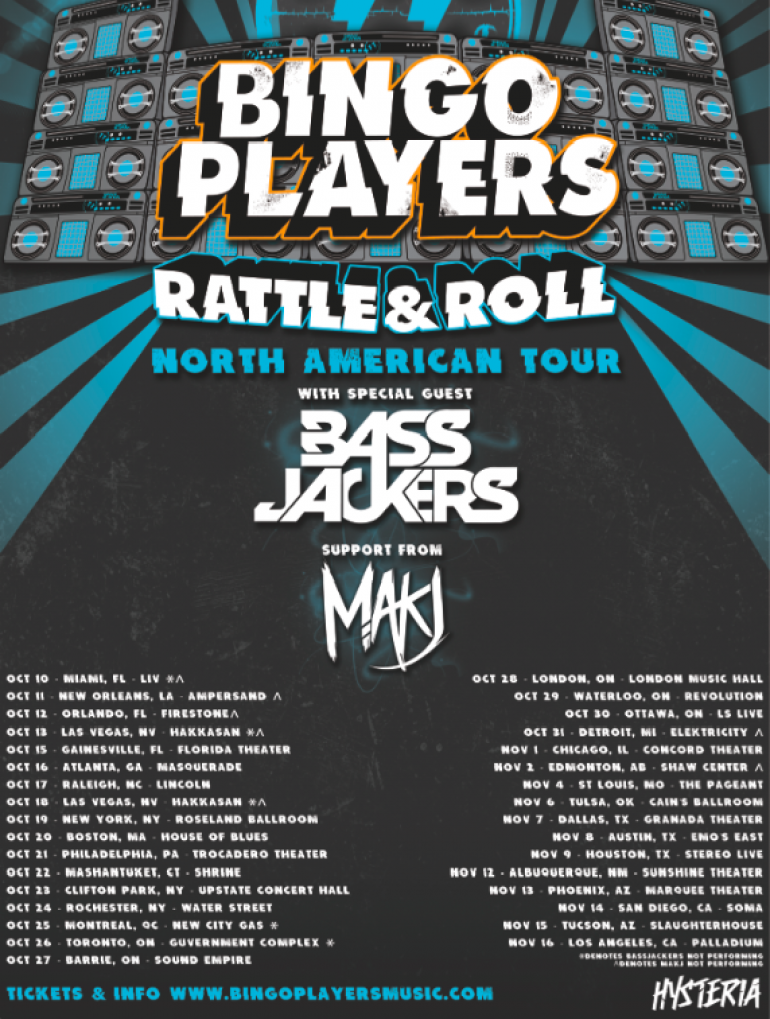 """Bingo Players Announce """"Rattle & Roll"""" Tour!"""