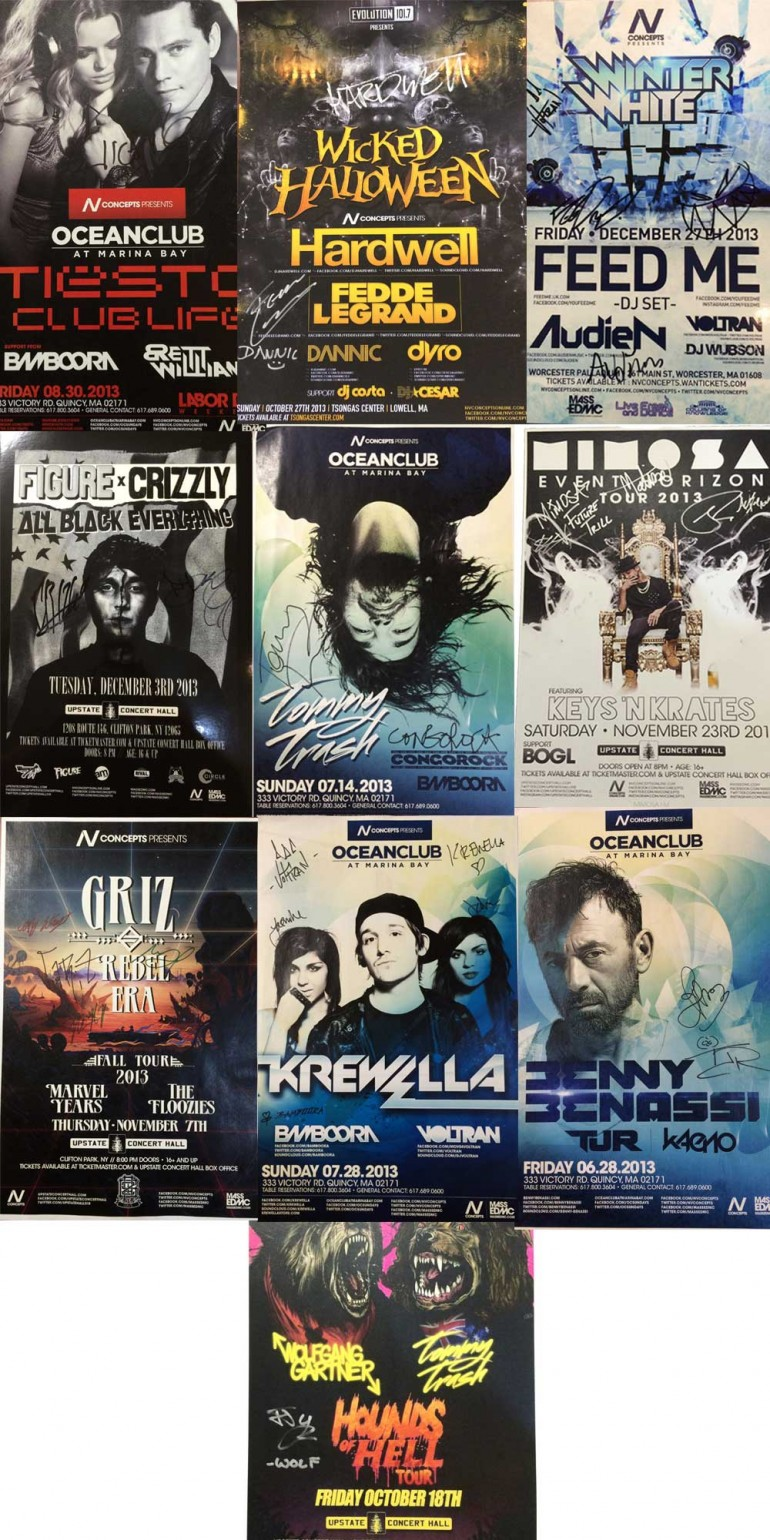 NV Concepts Autographed Poster Giveaway Featuring Hardwell, Tiesto, Krewella, and More