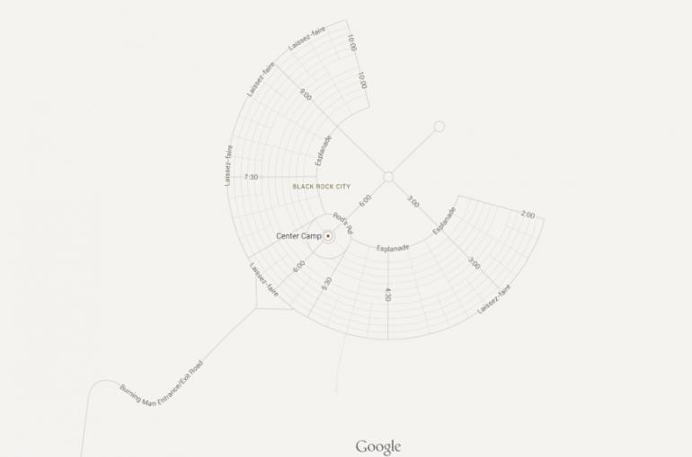 Google Maps Creates Map of Burning Man