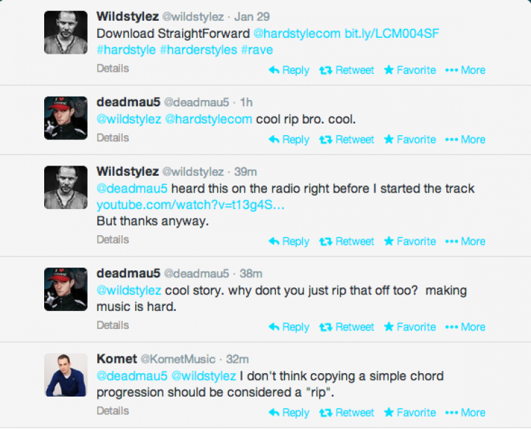 "Deadmau5 Accuses Wildstylez Of Stealing ""Some Chords"" Melody"