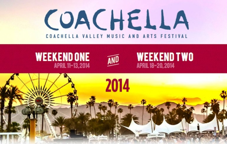 Coachella 2014 Set Times Are Out!