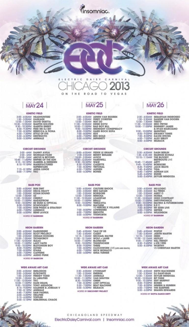 EDC Chicago Set Times Announced!