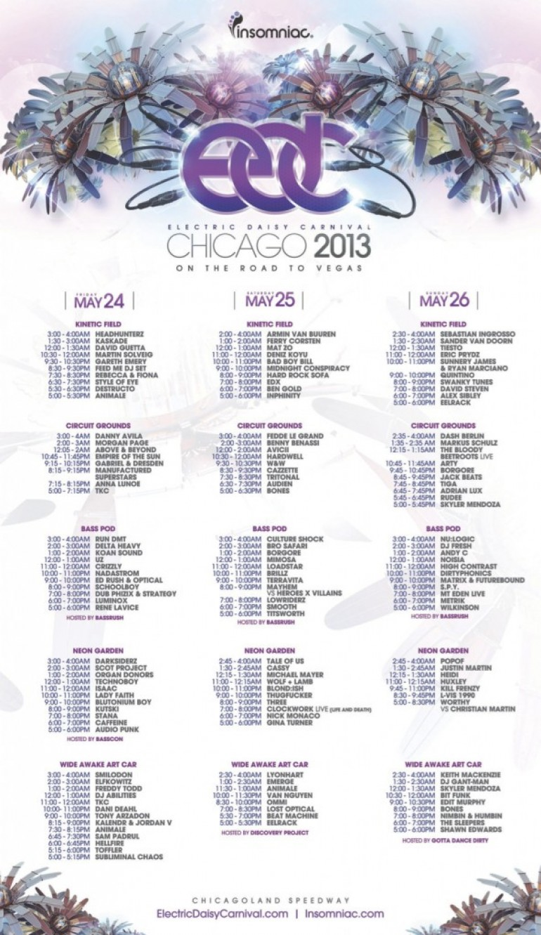 EDC Chicago Set Times Announced!