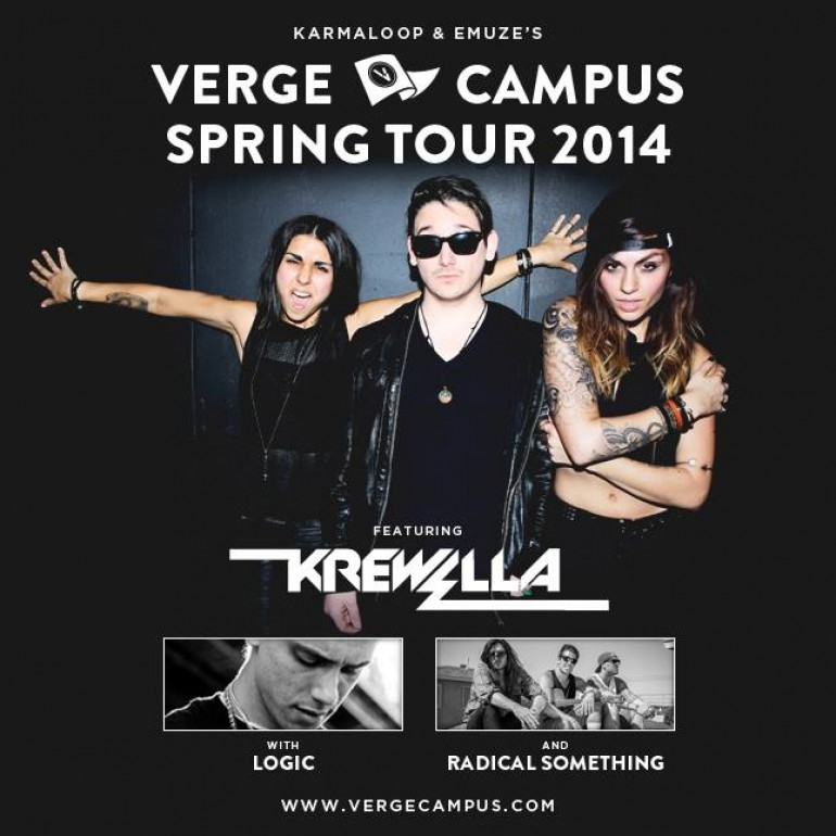 Krewella to Headline Verge Campus College Tour This Spring